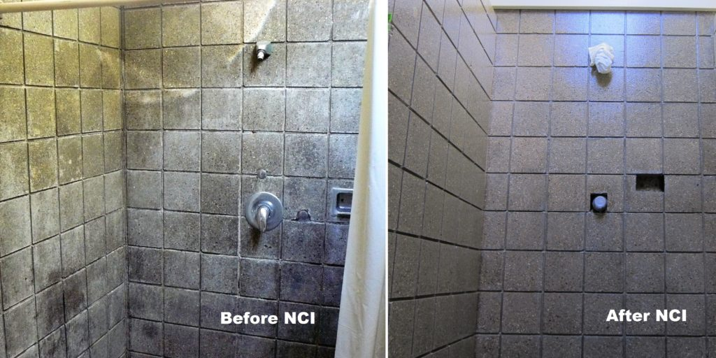 Nano-Clear penetrates and seals concrete block preventing water migration and making routine maintenance much easier.